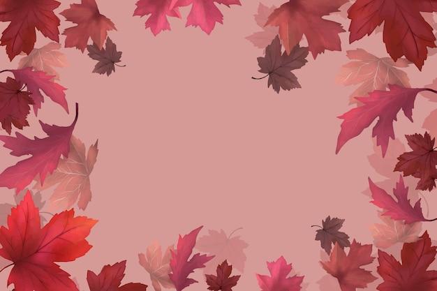 Herfstbladeren achtergrond Gratis Vector