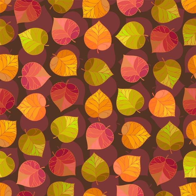 Herfstbladeren patroon Premium Vector