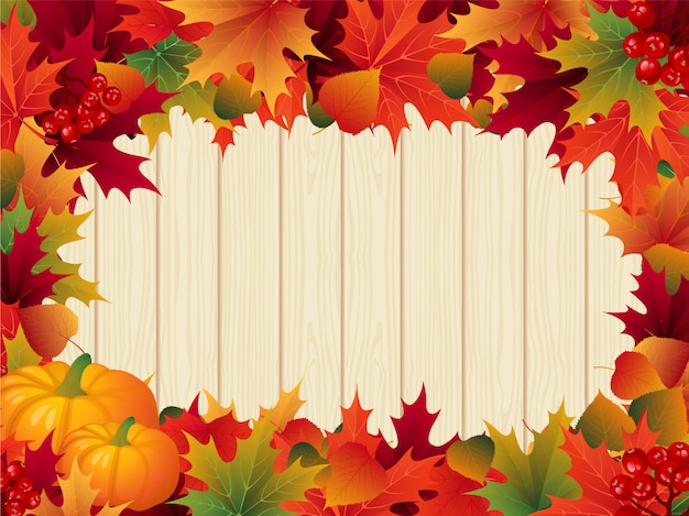 Herfstbladeren thanksgiving grens Premium Vector