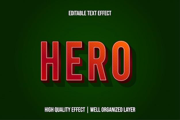 Hero moderne teksteffectstijl Premium Vector