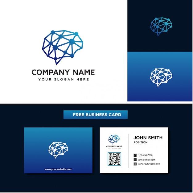 Hersenen logo ontwerpsjablonen Premium Vector