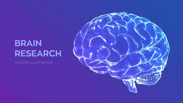 Hersenen. menselijk breinonderzoek Premium Vector