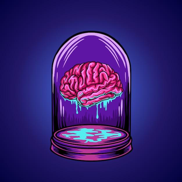 Hersenen Premium Vector