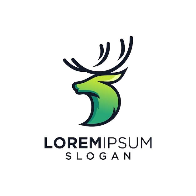 Herten groen logo Premium Vector