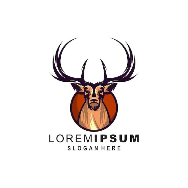 Herten logo illustratie Premium Vector