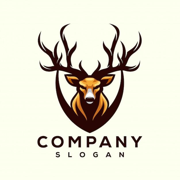 Herten logo ontwerpen Premium Vector
