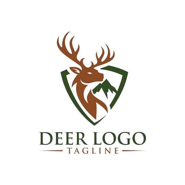 Herten logo sjabloon Premium Vector