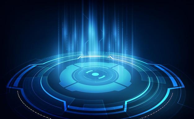 Het abstracte futuristische concept van achtergrondtechnologiesc.i Premium Vector