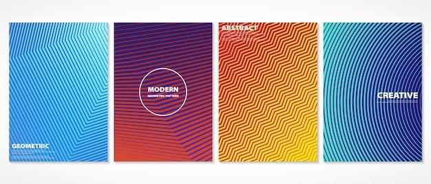 Het abstracte kleurrijke minimale ontwerp van het dekkingspatroon. Premium Vector