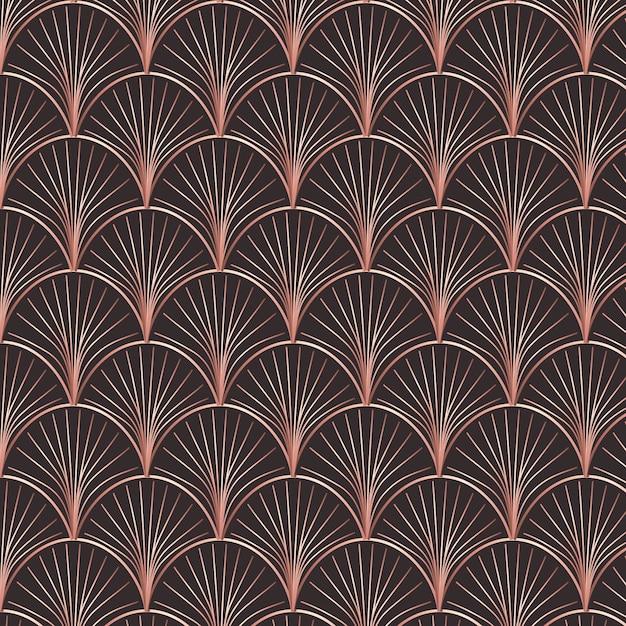 Het abstracte nam gouden patroon van de kunstdecoratie toe Premium Vector