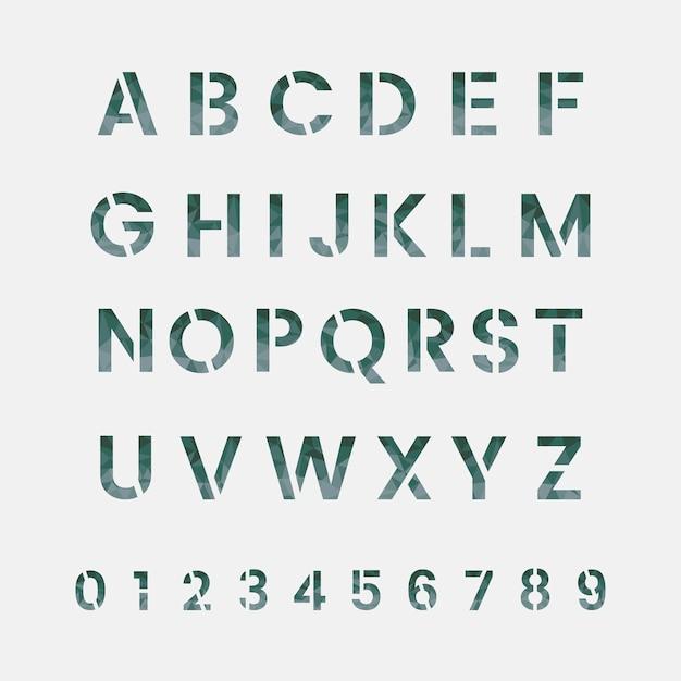 Het alfabet en het numerieke systeem vectoren Gratis Vector
