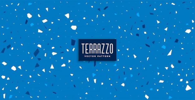 Het blauwe terrazzopatroon betegelt textuurachtergrond Gratis Vector