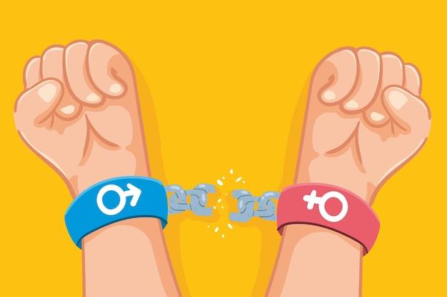 Het concept van gendernormen doorbreken Gratis Vector