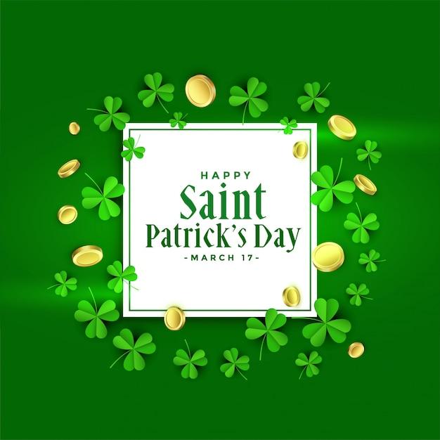 Het gelukkige st patricks ontwerp van de dag groene banner Gratis Vector