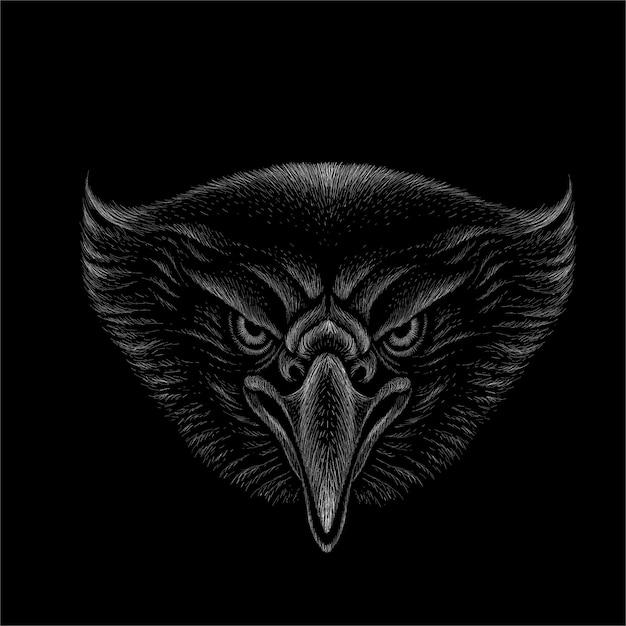 Het logo adelaar Premium Vector