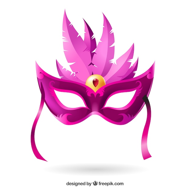 Het Masker Van Carnaval In Roze Tinten Vector Gratis Download