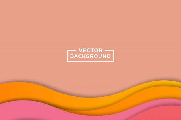 Het moderne abstracte geometrische document sneed roze achtergrond Premium Vector