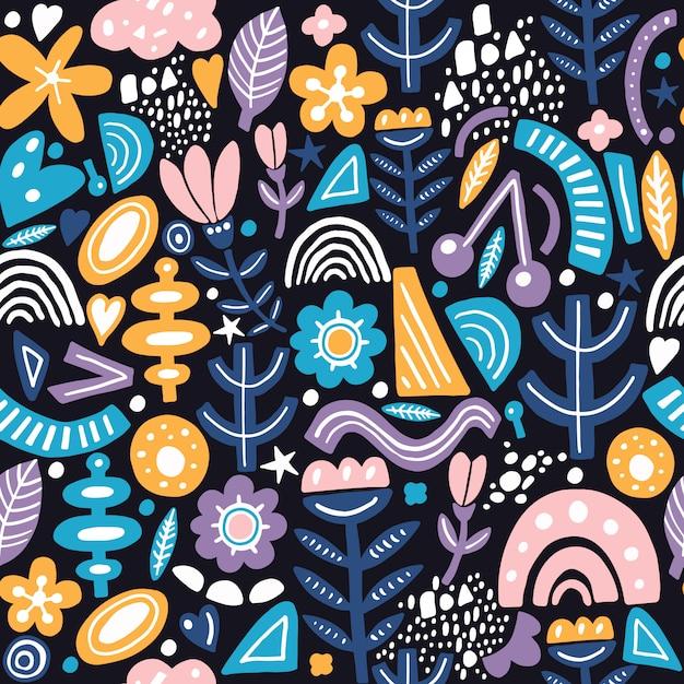 Verwonderlijk Het naadloze patroon van de collagestijl met abstracte en RU-01