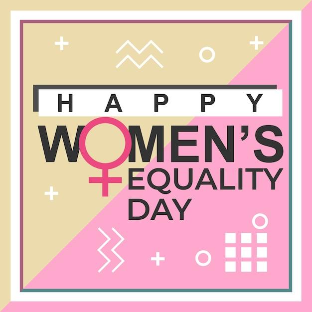 Het ontwerp van de de dagbanner van de gelukkige vrouw gelijkheid Premium Vector