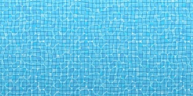 Het oppervlak van het water in het zwembad. Premium Vector
