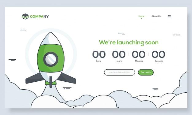 Het opstarten van hero banner afbeelding voor websites of apps. Premium Vector