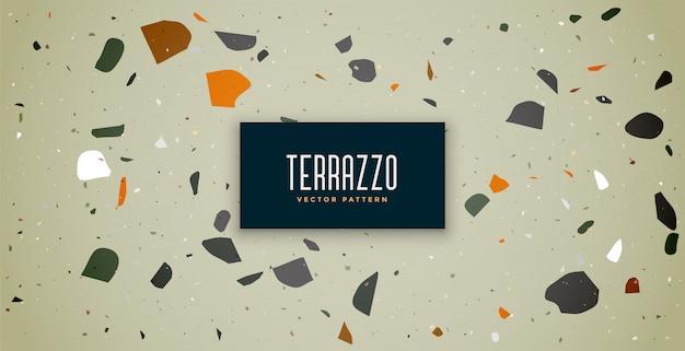 Het patroon van de achtergrond terrazzo klassiek textuurbevloering ontwerp Gratis Vector