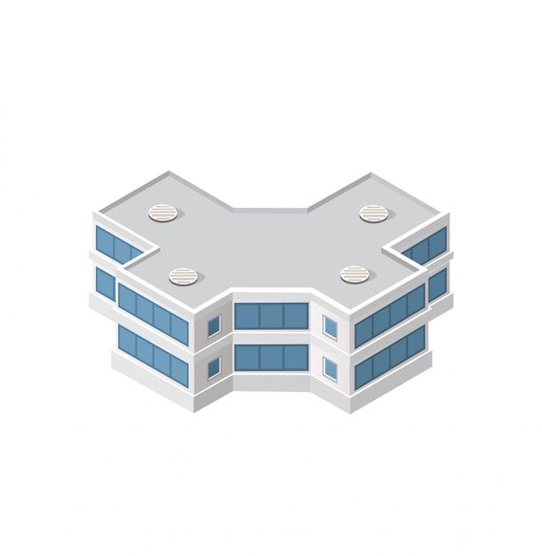Het slimme gebouw naar huis Premium Vector