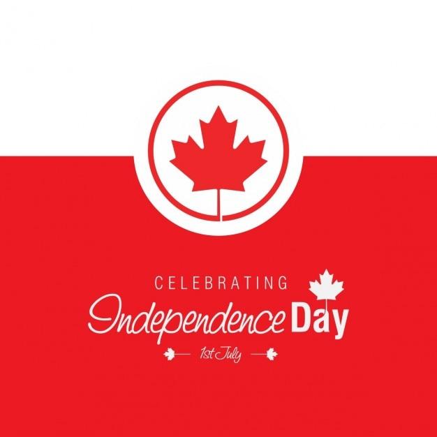 Het vieren van de dag van de onafhankelijkheid van 1 juli Gratis Vector