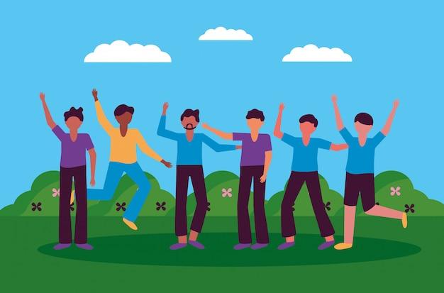 Het vieren van gelukkig jongerenontwerp Gratis Vector