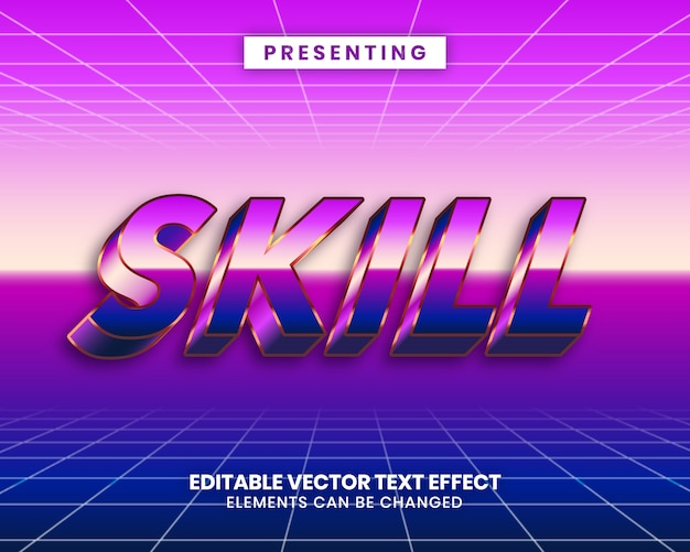 Het winnaarwoord met bewerkbaar teksteffect met een levendig verloop Premium Vector