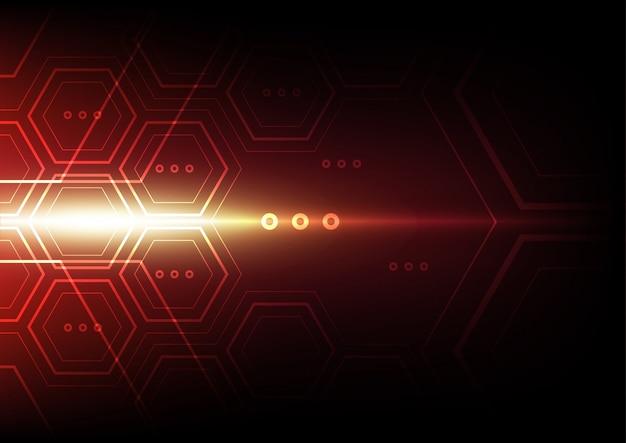 Hexagon abstracte technologieachtergrond Premium Vector