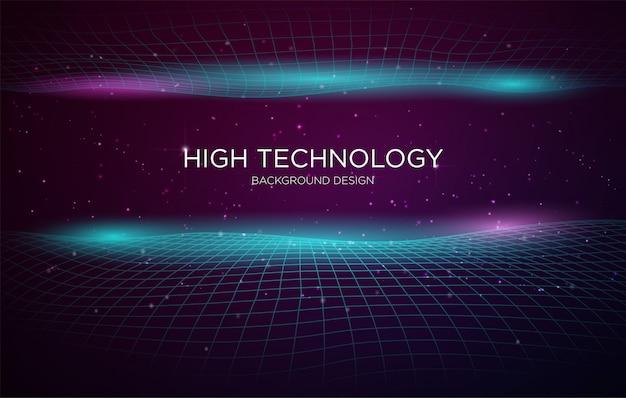 High-tech dekking achtergrond sjabloon Premium Vector
