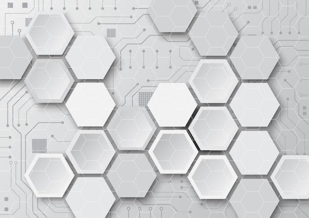 High-tech geometrische technologie Premium Vector