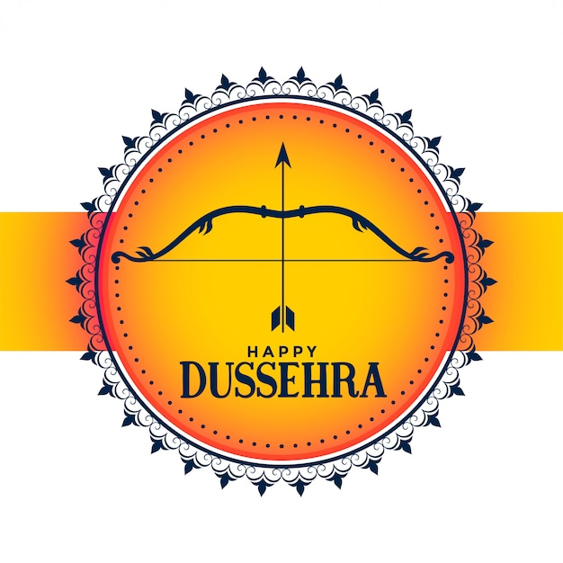 Hindoe festival van gelukkige dussehra wenskaart Gratis Vector