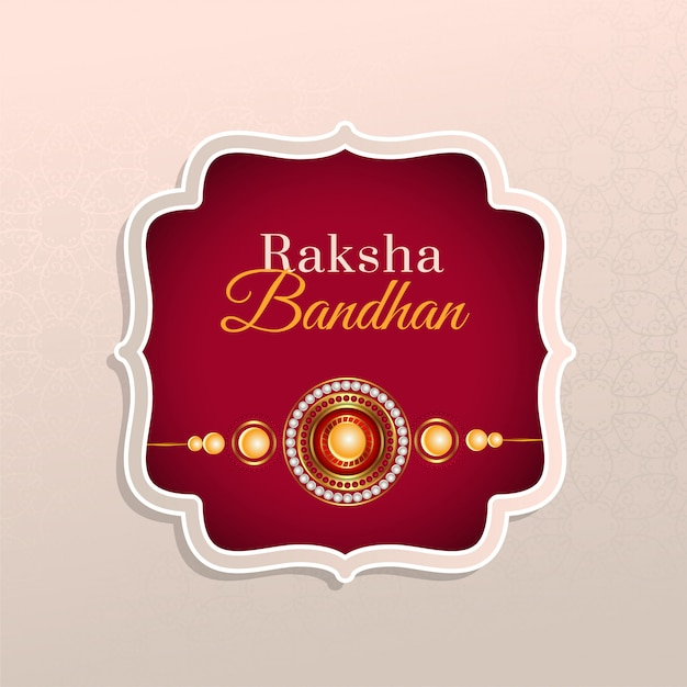 Hindoe raksha bandhan festival wenskaart Gratis Vector
