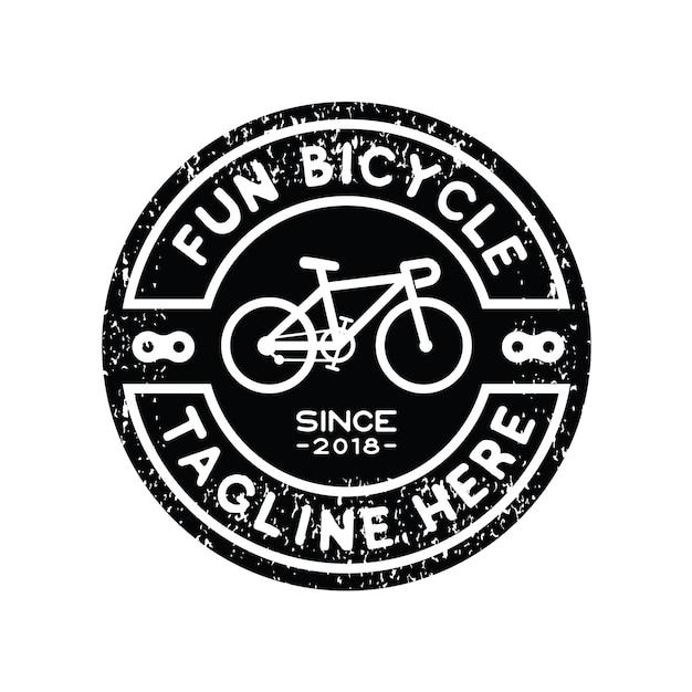 Hipster fiets logo ontwerp inspiratie vector Premium Vector