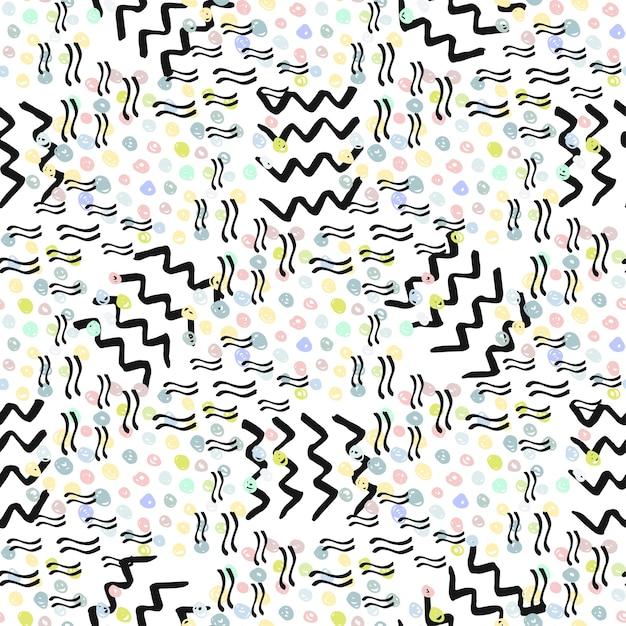 Hipster naadloze patroon. mode achtergrond. vector voor print, stof, textiel, verpakking Premium Vector