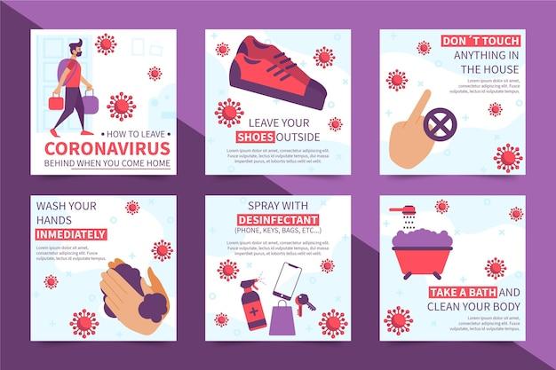 Hoe u het coronavirus kunt achterlaten als u thuiskomt Gratis Vector