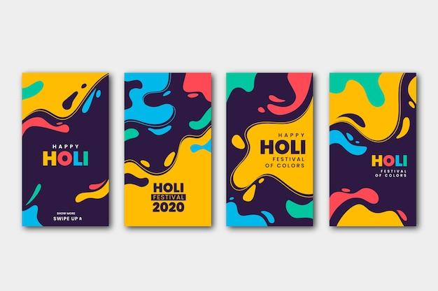 Holi festival instagram verhalencollectie Gratis Vector