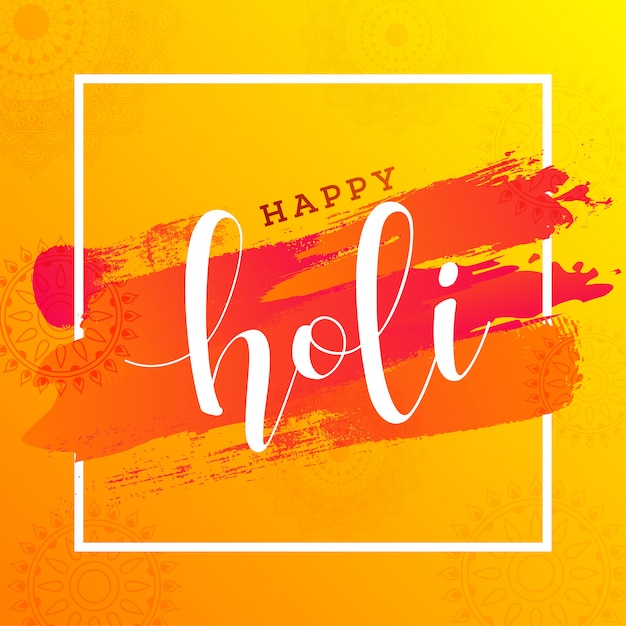Holi-festivalachtergrond. Premium Vector