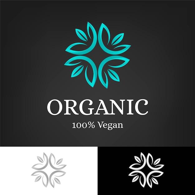Holistische organische concept logo sjabloon Gratis Vector
