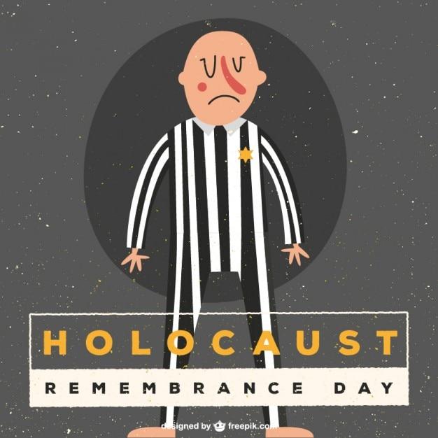 Holocaust herinneren dag illustratie Gratis Vector