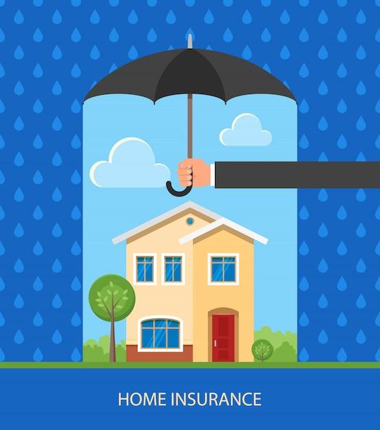 Home bescherming plan illustratie Premium Vector