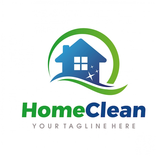 Home cleaning and cleaning services-logo Premium Vector