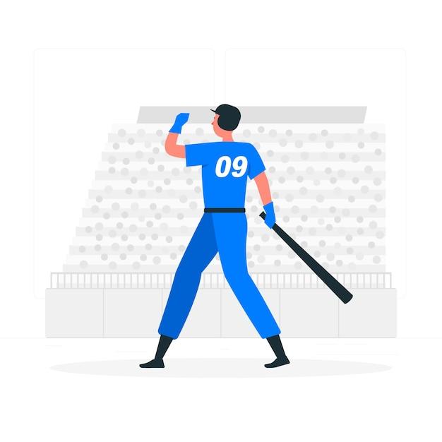 Home run concept illustratie Gratis Vector