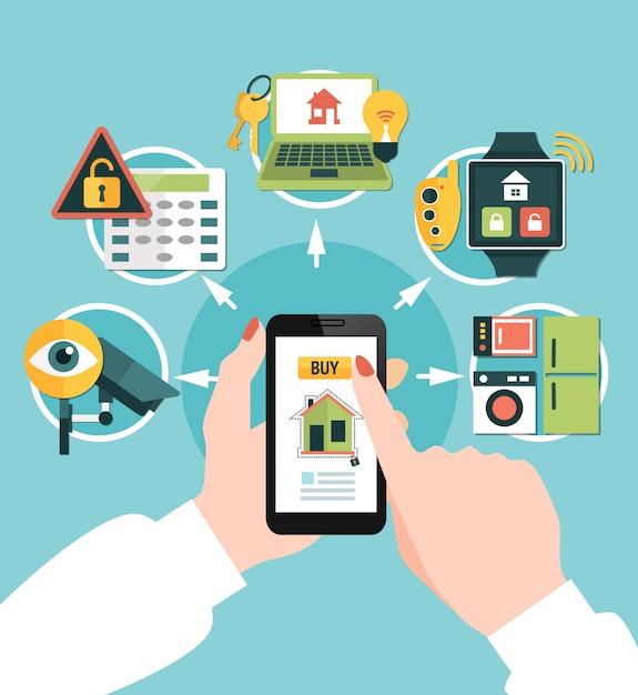Home security online samenstelling kopen Gratis Vector