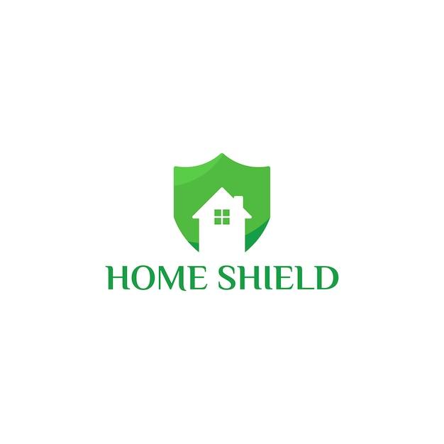 Home shield logo sjabloonontwerpen Premium Vector