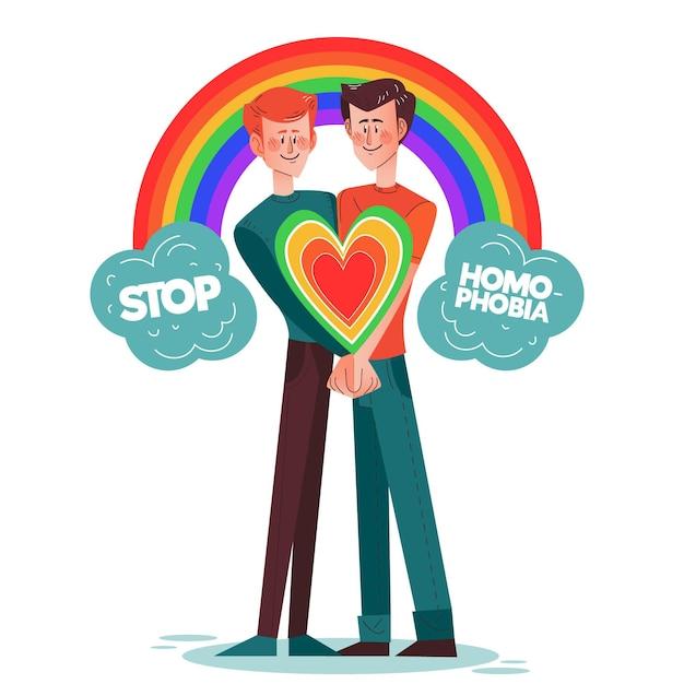 Homofobie concept stoppen Gratis Vector