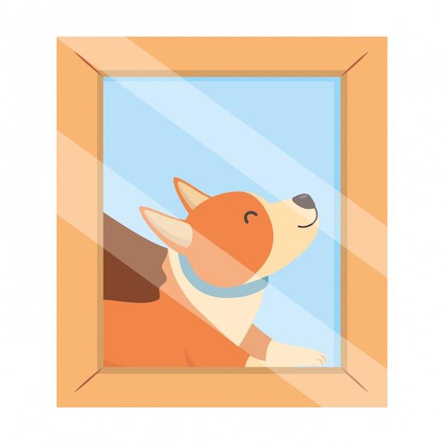 Hond cartoon Gratis Vector