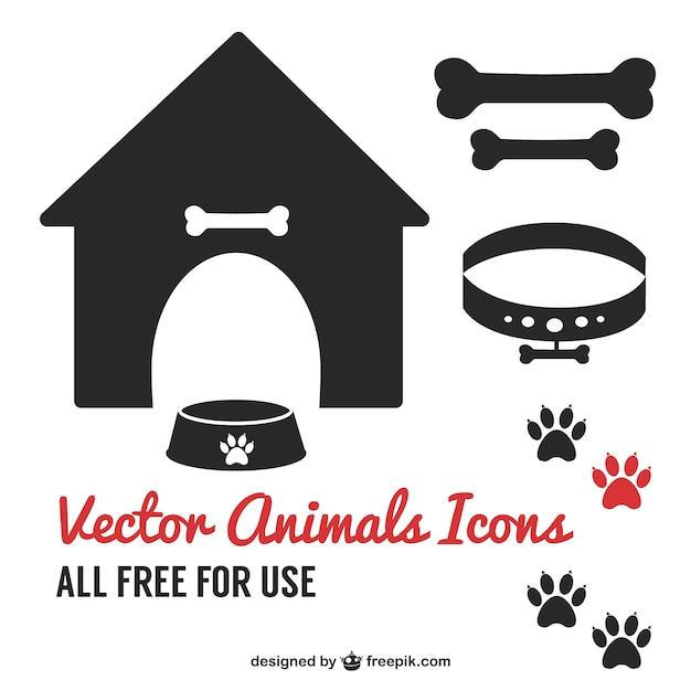 Hond huisdier pictogram symbolen gratis te downloaden Gratis Vector